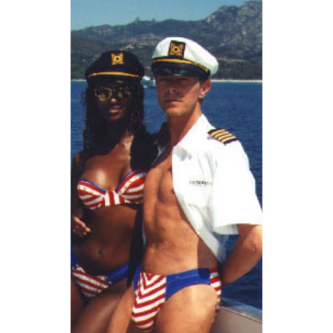 Rest in peace, David Bowie! Matching bikinis with wife,Iman! A true original. Endless inspiration rolled into one magnetic, fashion forward and androgynous free thinker.  #glamrock #uk #davidbowie #bikini #androgeny #outsidethebox #original #music...