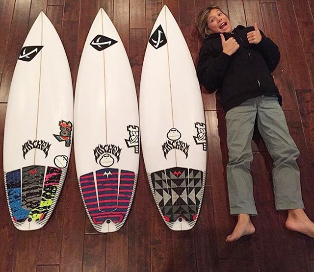 @davideconomos giving his three new boards the two thumbs up. #lostsurfboards #lostclothing
