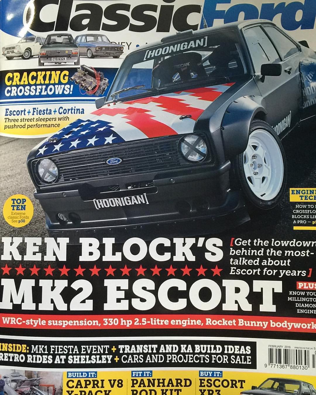 My Hoonigan Gymkhana Escort is on the cover of the latest issue of @ClassicFordMagazine​ - that rules! Which reminds me, I definitely need some more seat time in this thing. That Ryan Tuerck guy took it all at @GymkhanaGrid​ last November. Ha....