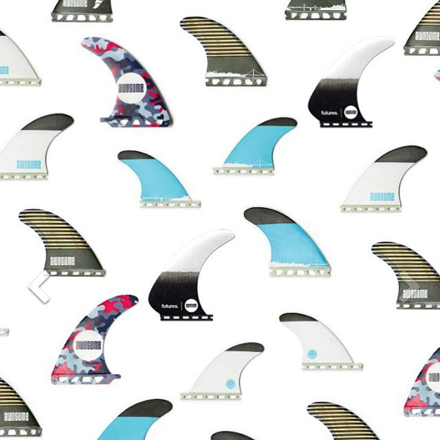 fins. we got a new delivery from our cooperation with @futuresfins . 5 fin sets, Bamboo/ Carbon, Single Fins and the Model T. check link in bio #awesome #awesomesurfboards #fins