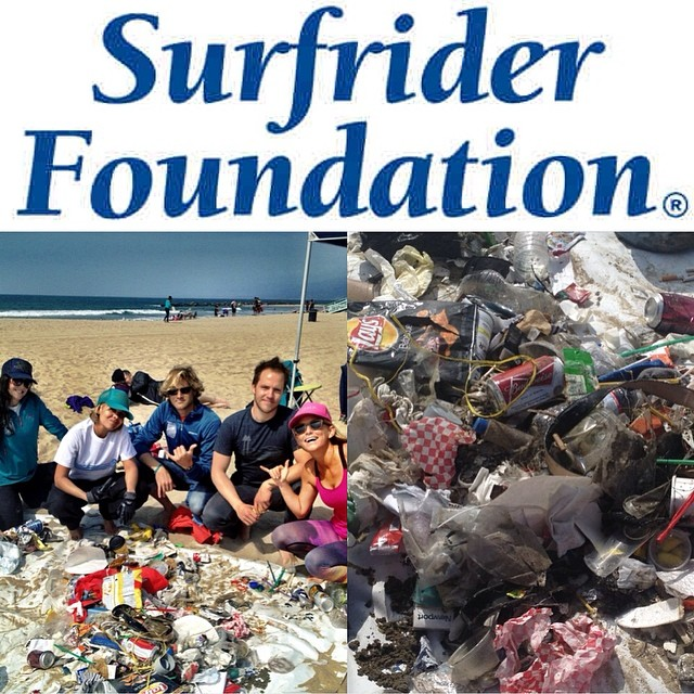 Fun beach cleanup with @surfrider in Venice this morning...it's mind blowing how much trash you can find by walking for even 5 mins. Join #SurfRider and help keep the beaches and oceans clean on this pretty cool planet...