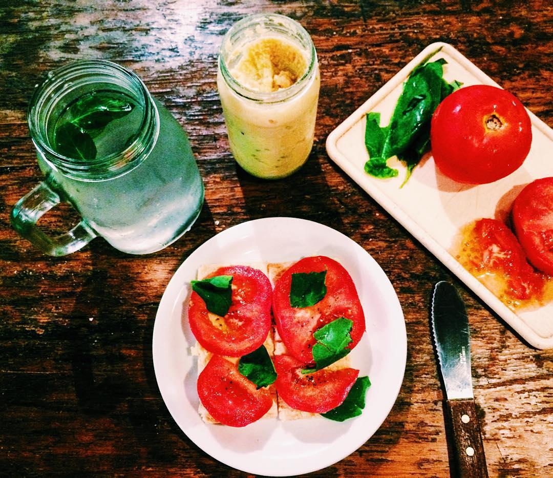 Limonada con menta y jengibre (y chia)