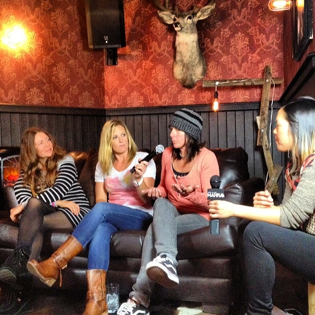The backbone of women's snowboarding - Kathleen Gasperini, Lisa Hudson, Miki Keller, Cara-Beth Burnside,  Shannon Dunn-Downing, Gaylene Nagel - passing down knowledge  during the MAHFIA Sessions @groupy @b4bc #advice #punkspirit #keepmoving...