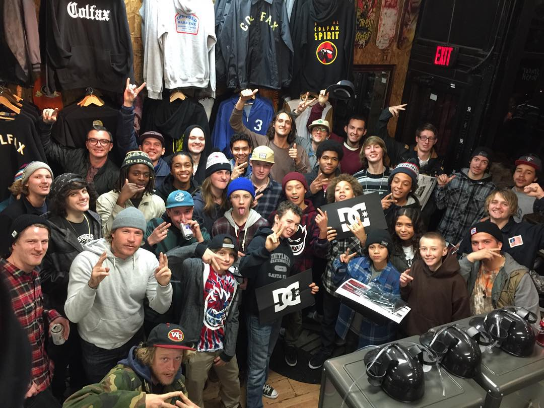 Thanks to everyone for hanging out with us at @303boards for @starheadbody and #WesKremer's pizza party! #DCShoes