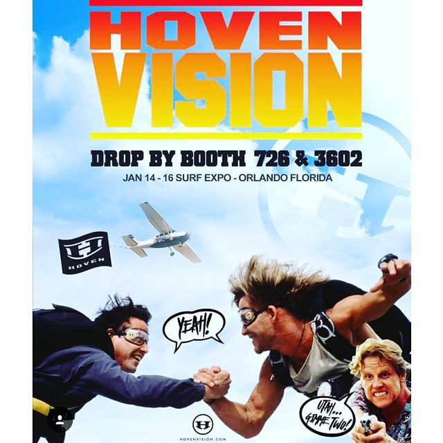 We will be at @surfexpo this week in Orlando!! Stop on by booth #3602 for your chance to win free shades!  #hovenvision #whatsyourvision #pointbreak #johnnyutah #surfexpo