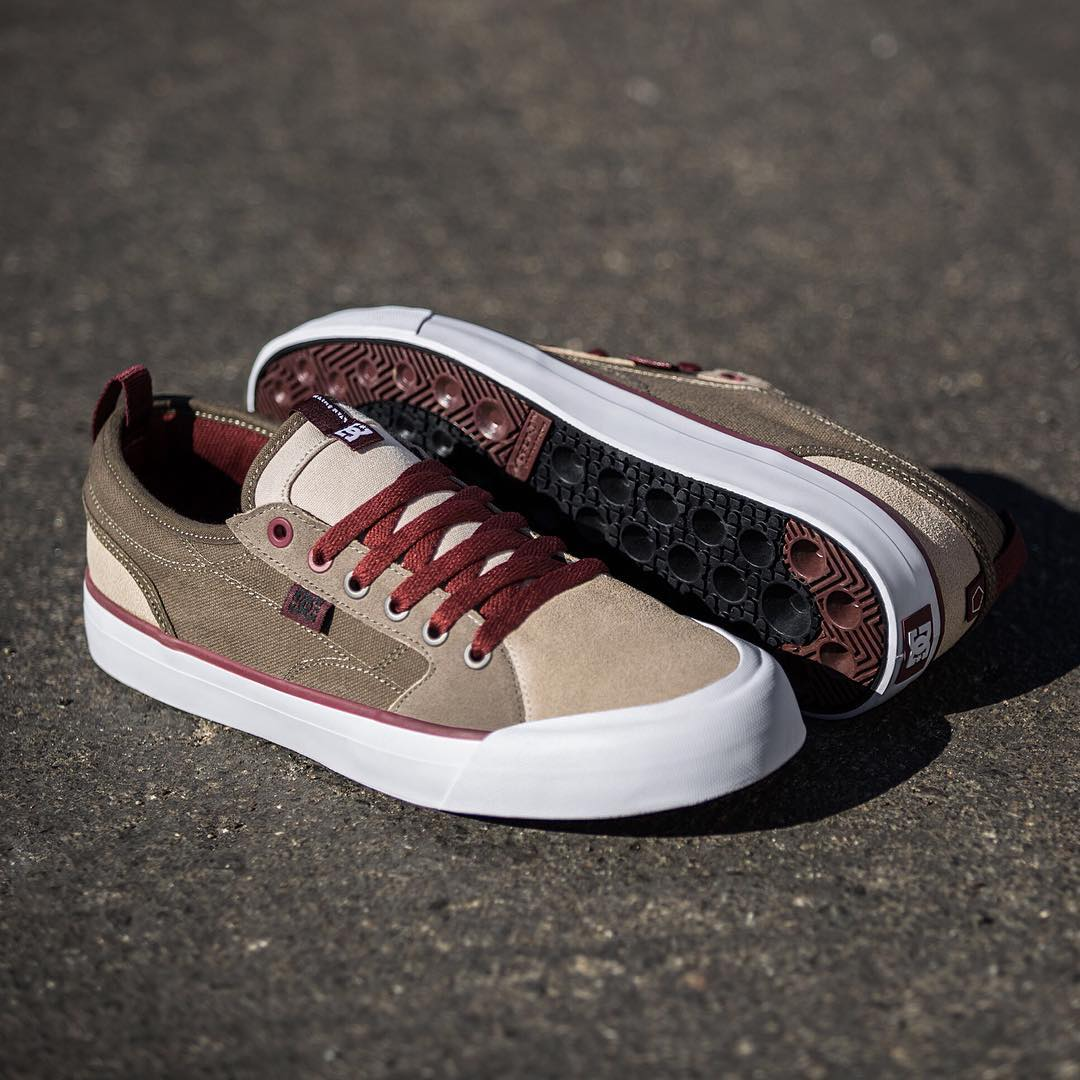 Style and durability. The all new Evan Smith (@starheadbody) signature shoe with IMPACT-I, SUPER SUEDE, and SUPER CANVAS is available in Olive/Tan at skateshops everywhere and dcshoes.com/EvanSmith. #DCEvanSmith #DCShoes