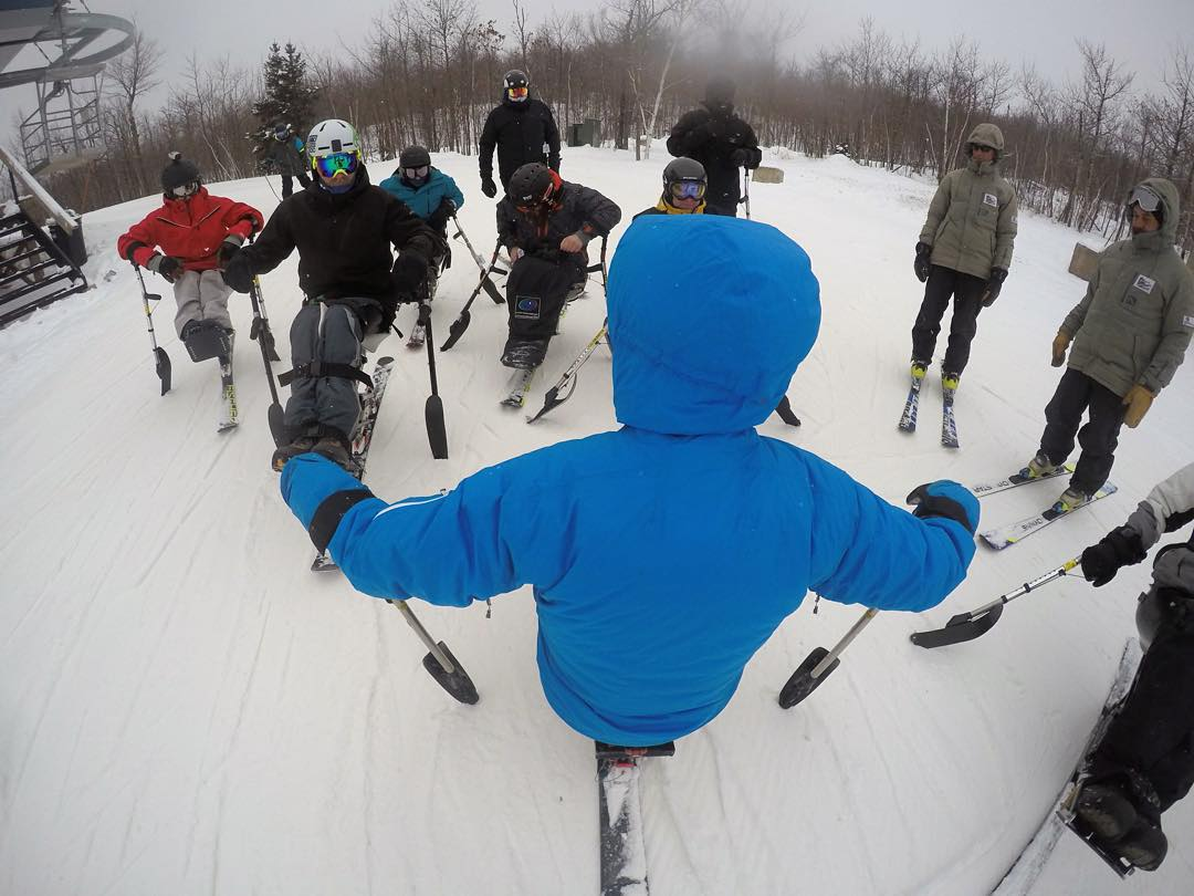 High Fives #USOC Race Camp w/ head coach & world renown monoskier @justdueck has begun! @gopro #gopro