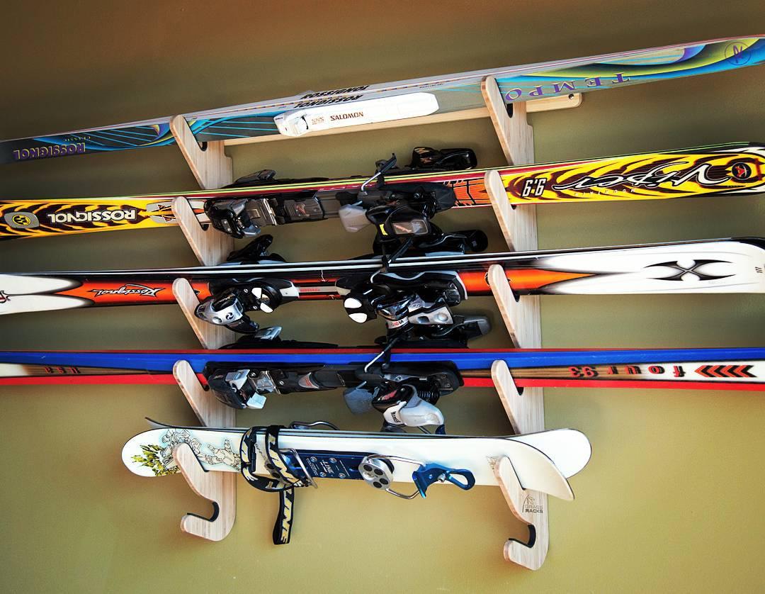 It's 6:29. Do you know where your skis are?  #bamboo #skirack #skiracks #ski #skis #skier #skiing #winter #snow #powder #mountain #mountains #skistorage #powderday #wednesday #humpday #vacation #skitrip