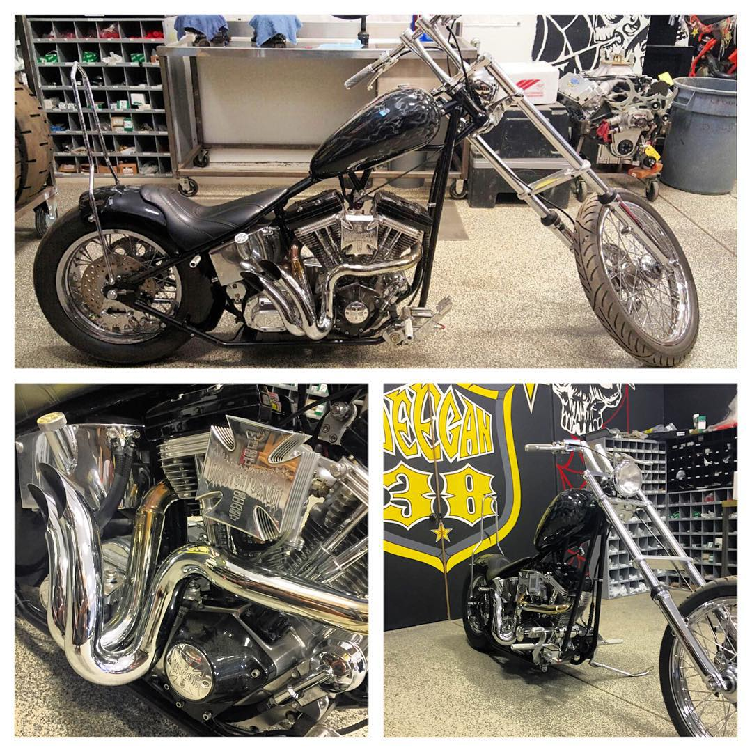Selling my custom chopper. It's a 1999 originally built by Kens custom choppers then sent to WCC for a rebuild. 80 ci S&S motor. Located in temecula ca. Serious inquires only DM please. #wcc #forsale #chopper #deegan38