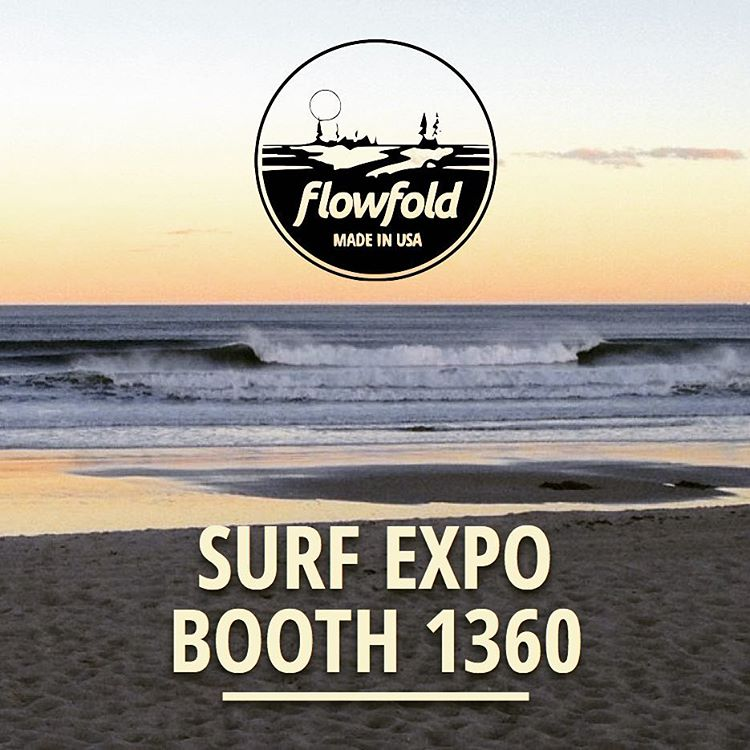 Aloha #SurfExpo! Come on down to #Flowfold booth 1360 and see why over 300 retailers carry our ultralight gear. Every product is made in the USA with a Lifetime Warranty.