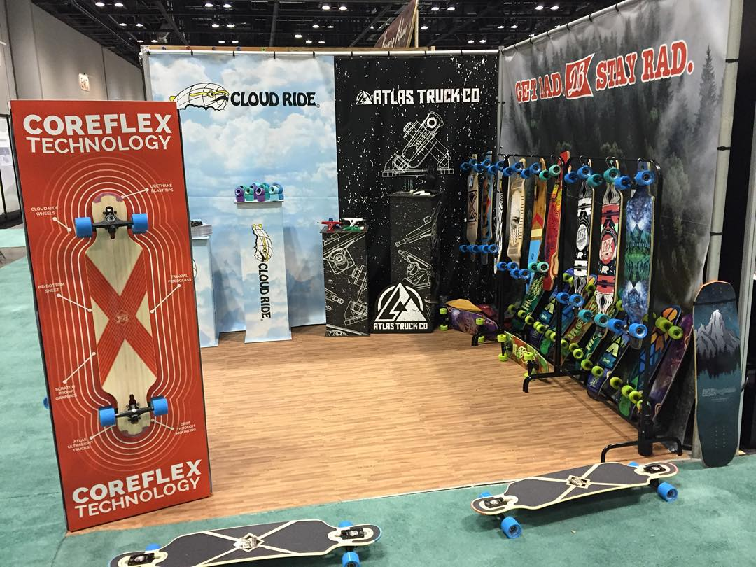 Our new Core Flex Technology  and 2016 line is on display at @surfexpo in Florida. If you are at the show stop by booth #147! #dblongboards #longboard #longboarding #coreflex #florida #surfexpo