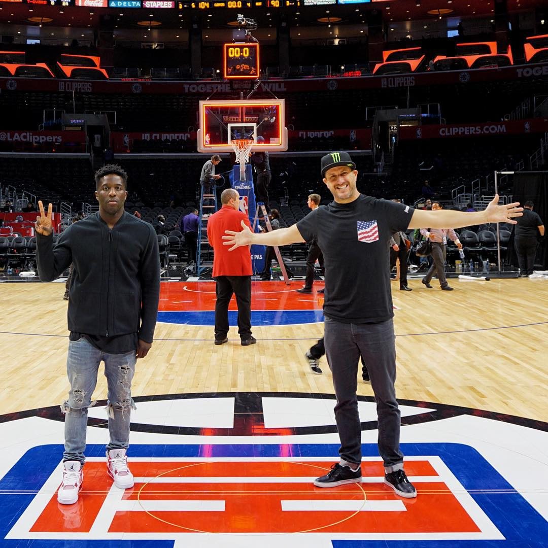 I had the chance to go to the @LAClippers game last night along with this guy: @NigelSylvester. Rad dude who has the same level of passion for BMX and making dope content that I do for rally and making videos of myself killing tires. Bonus: our mutual...