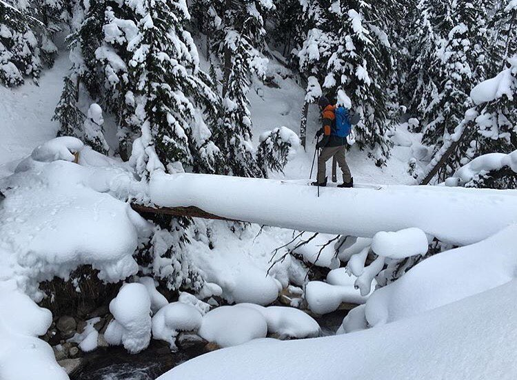 The pursuit never ends for @hukesnow . #Splitboarding in #Revelstoke #Backcountry in the Caravan Jacket. |