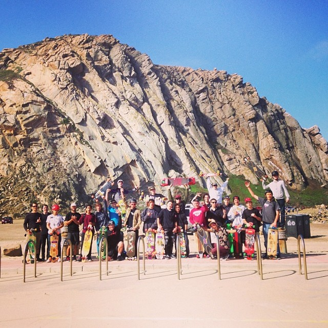 Good times on the #MorroBayFunfest cruise to #MorroRock! @loadedboards @orangatangwheels @mbskateboardmuseum @whoisadamcolton @kylechin @ethancochard