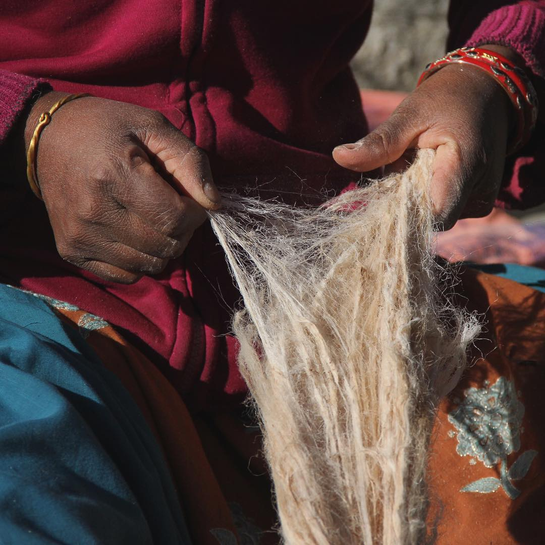 From harvest to yarn to textile, each step of our nettle-weaving process is done by hand in two remote villages in the foothills of the Himalayas. No excess water, electricity or toxic dyes are used and each piece provides a sustainable income to our...