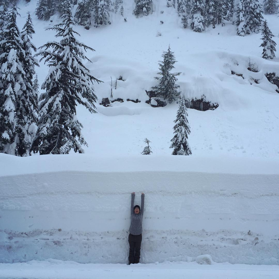 Can we talk about how much snow is at @summitatsnoqualmie right now?! This place is SICK.