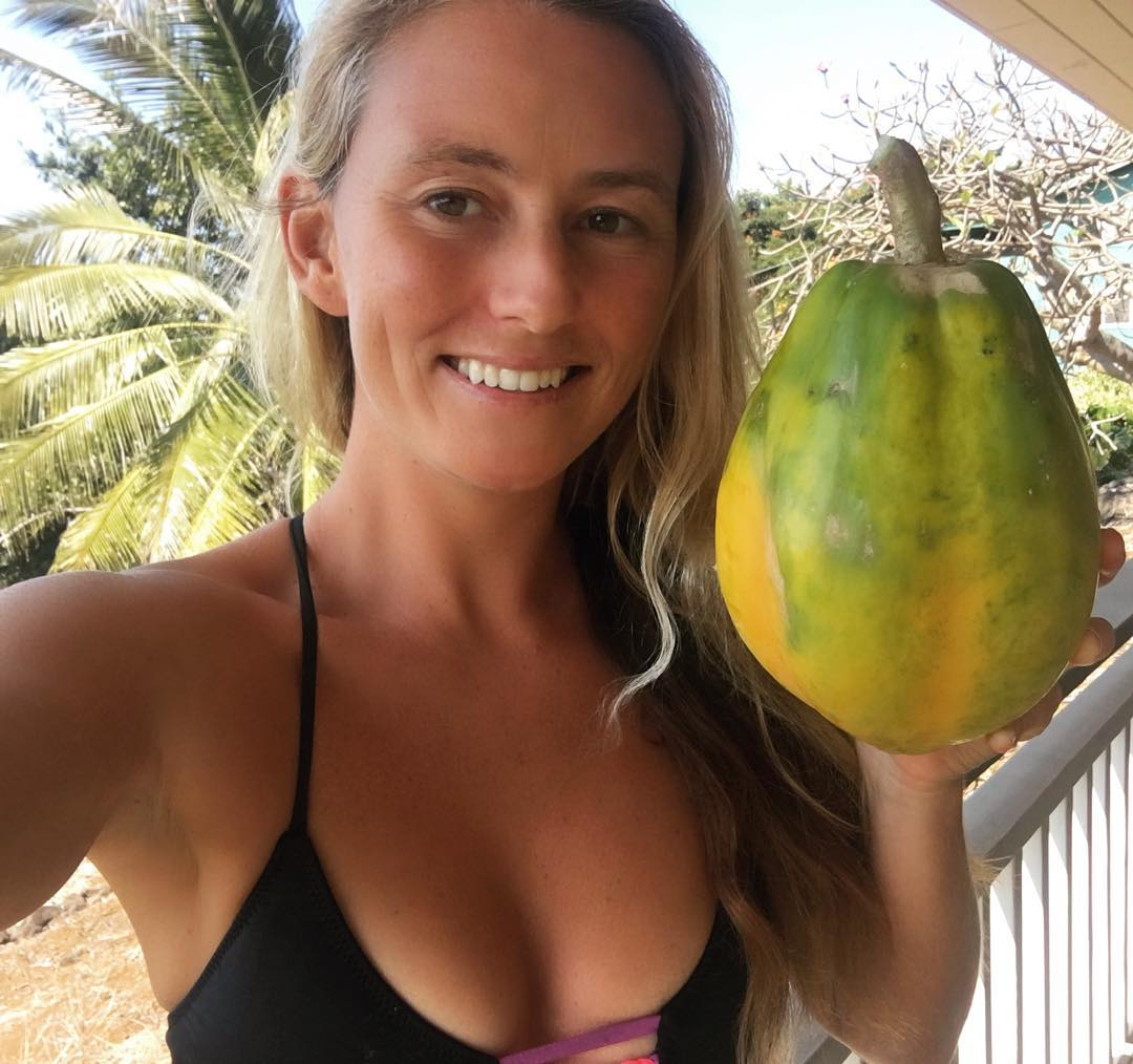 Just picked a papaya bigger then my head! #luckywelivehawaii #eatlocal