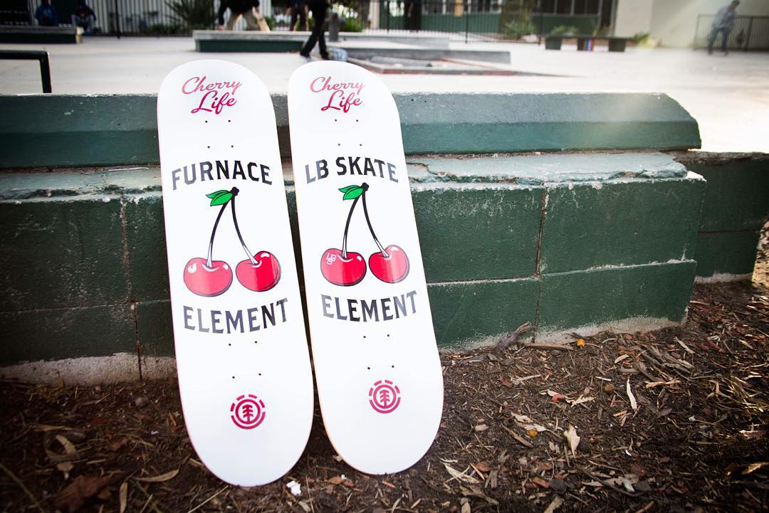 a closer look at the Element x @furnaceskate and @lbskate collab boards now available at both shops >>> all of Element proceeds will be used to create a new obstacle at #cherrypark >>>