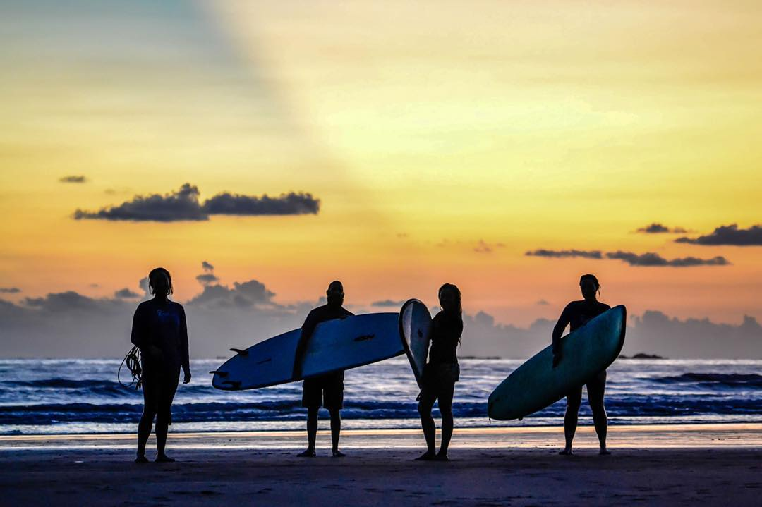 What could be better than learning to surf with your closest friends?