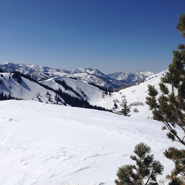 Hope you all are enjoying the late season, check out the view of Big Cottonwood Canyon from the top of Jupiter Peak. #getoutthere #shredready #getsome