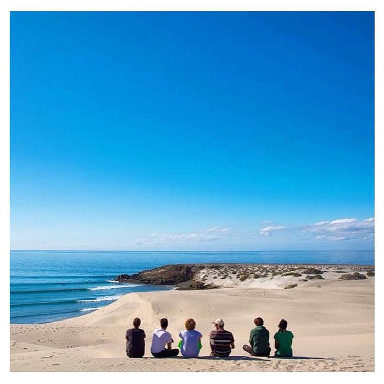 """Small, clean waves at a remote sand bottom point break & camping w/ coyotes in the dunes..."" Sounds pretty good to us ✔️ #regram via @outsiteco"