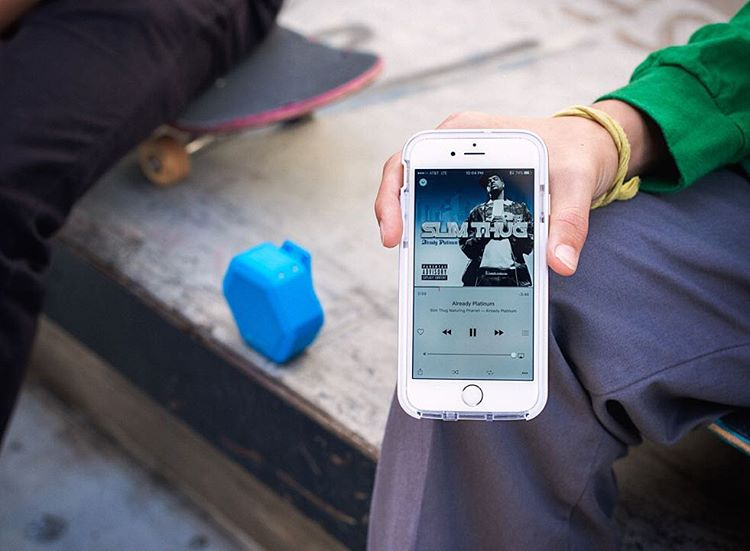 What are you listening to today?  Shown: #Boombotix Rex in Pacific Blue