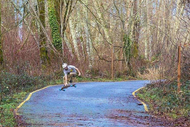 Team rider Devon Dotson (@devdot23) trying out our new Compound longboard featuring our Core Flex Technology. Follow the link in our bio to learn more about this board set to release this spring! (