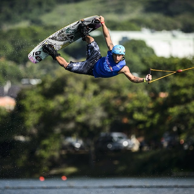 Hanging tough. #wakeboarding