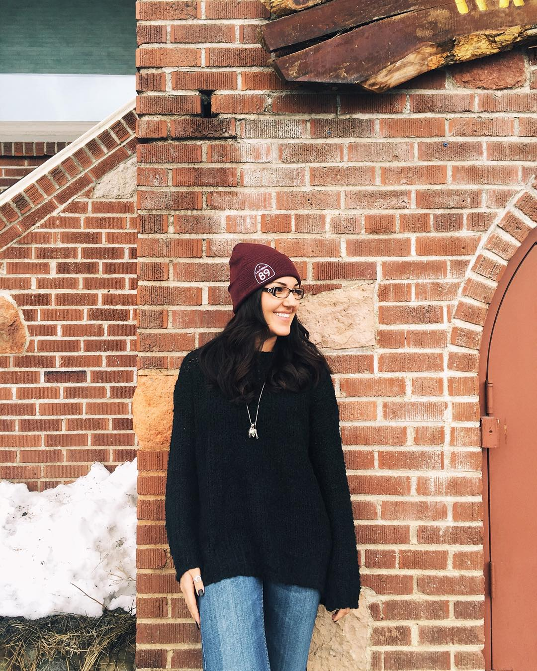 Spotted: the lovely @alanaciera wearing one of our beanies in Downtown Truckee