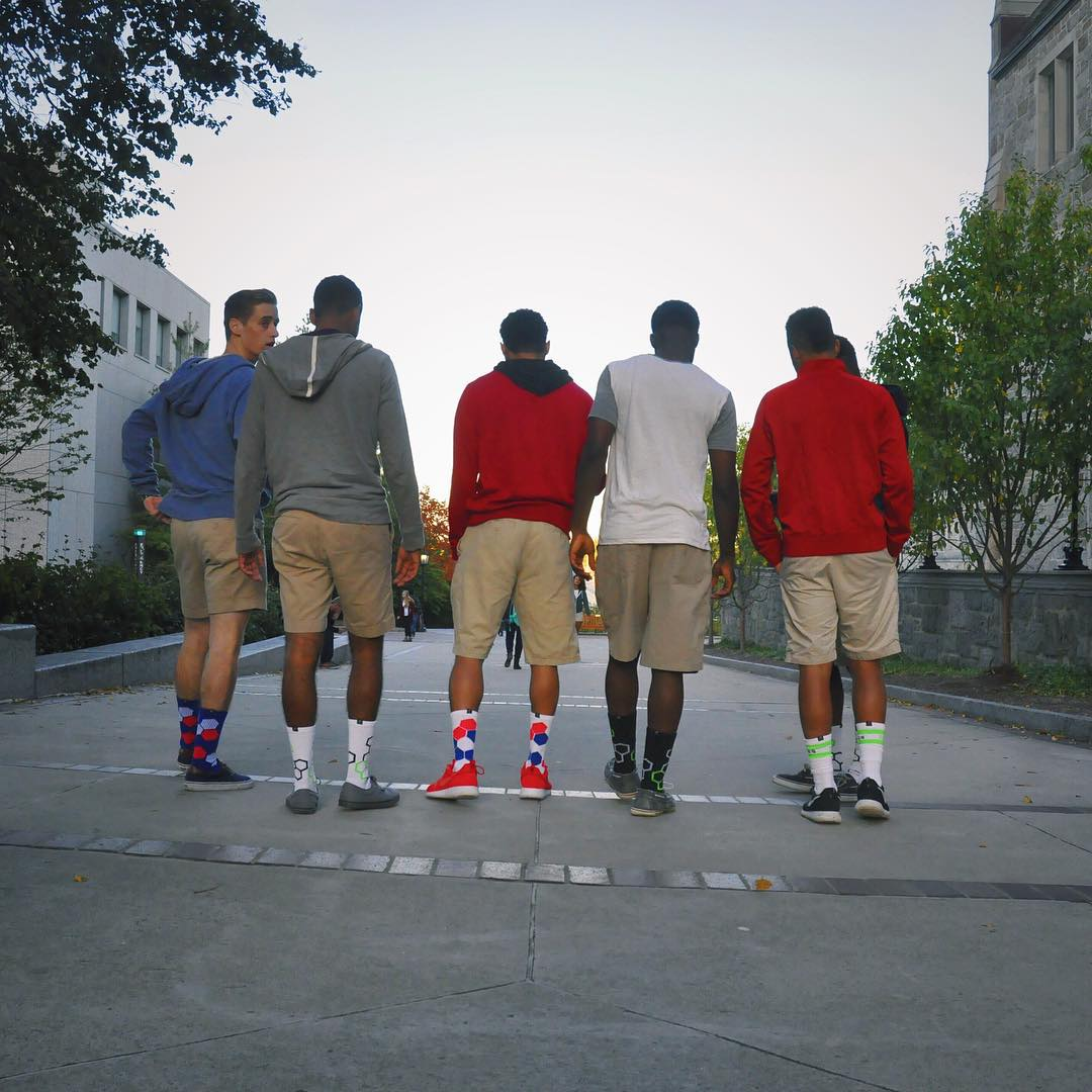 Sometimes your only goals are #Squadgoals #grabapair #lifestyle #college #springsemester #bc #style #socks #athleisure