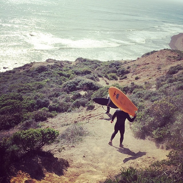 two local surf adventures. saturday with @hwilliamsmith and @jduys in Marin. thanks for the ride!