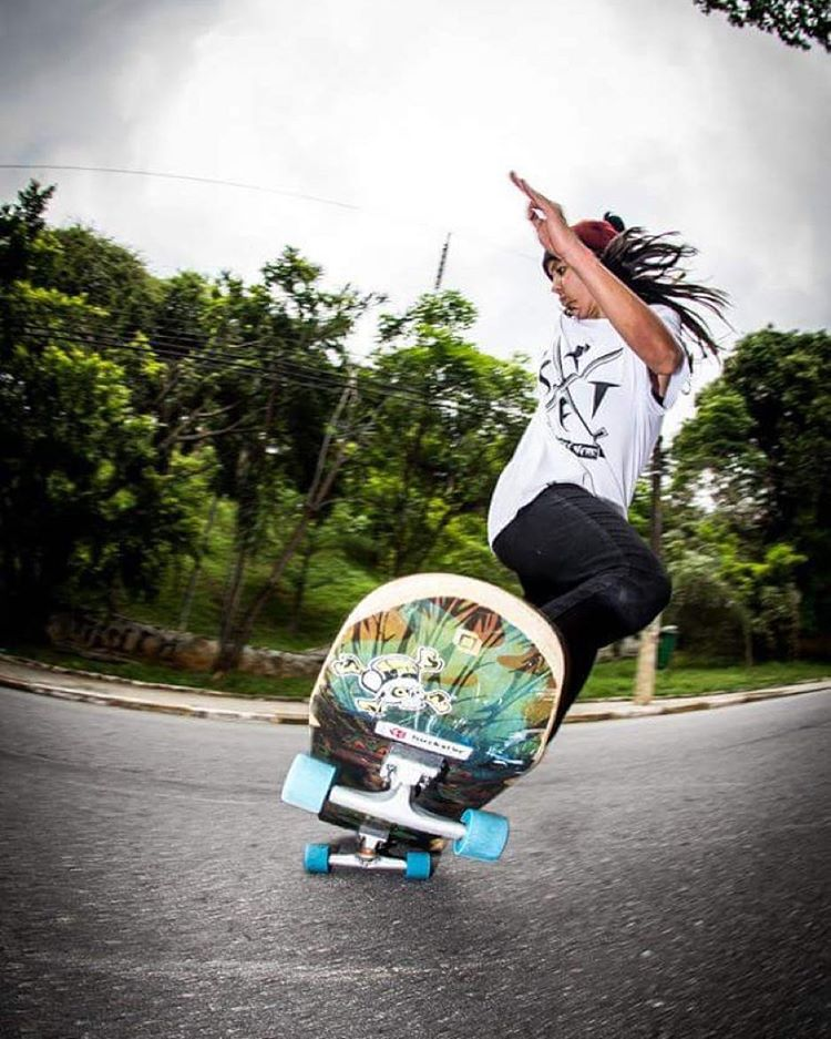 LGC Brazil represent! The always rad @nayaranishimuta_long. She rips.  Repost from @rste.resistence. @jeffskate13 photo.  #longboardgirlscrew #womensupportingwomen #lgcbrazil #skatelikeagirl #nayaranishimuta #rad
