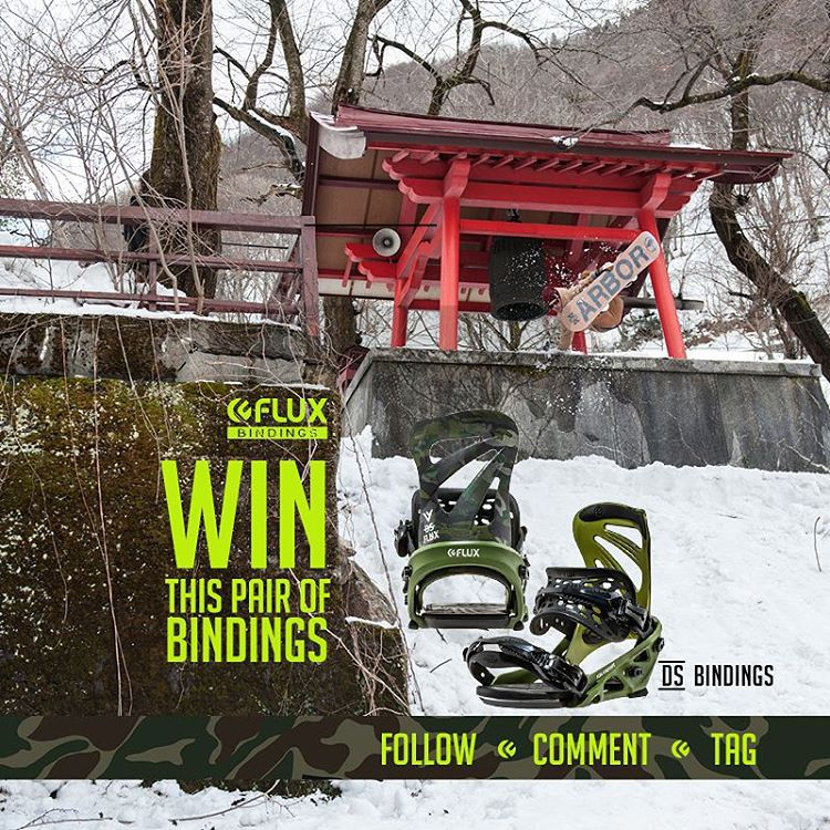 LAST CHANCE TO  WIN FLUX! Flux Bindings is giving away a set of the DS Reflective Camo Bindings! To Enter: Go to @fluxbindings and FOLLOW our gram feed, make a COMMENT on our WIN FLUX post and TAG three of your friends in your comment. The winner will...