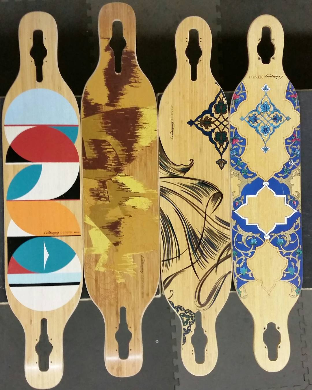 Timeline of the #Dervish graphics over the years.  Who wore it best?! #DervishSama #LoadedBoards