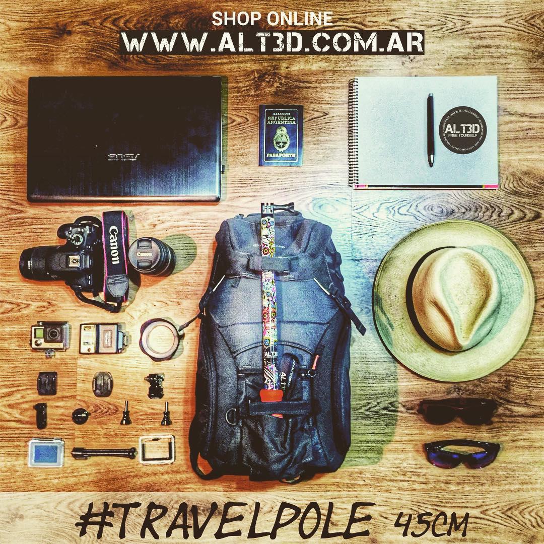 - ESPECTACULAR KIT DE VIAJE CON EL #TRAVELPOLE @alt.3d de 45cm - La medida ideal para tus viajes ✈️