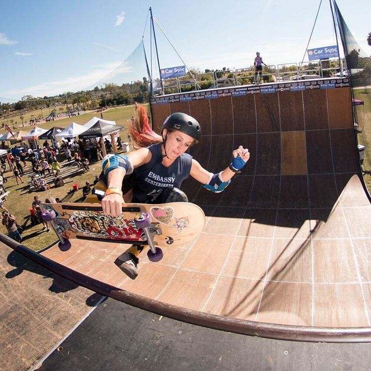 @_kat_sk8_ ripped the vert ramp at #exposure2015 ! Photo by @jakegrovephoto