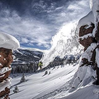 @lonesomepony doing what he does in the @vailmtn backcountry.  PC: @jeffcricco