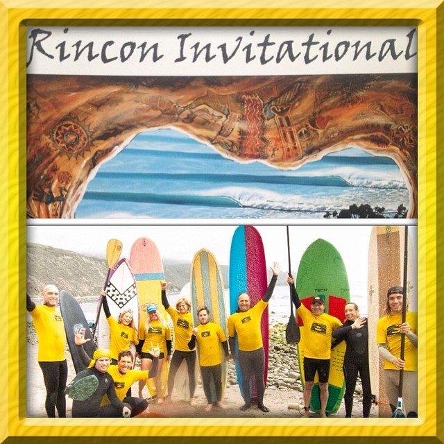 Thank you @sustainsurf for inviting us to be a part of the #RinconInvitational! Had a ball on my all #eco @etechboards @invertsup SUP! Loved sharing waves, laughs, and seaweed with you all!!! Same place, same time next yr?  @hisarahlee @surfisswell...