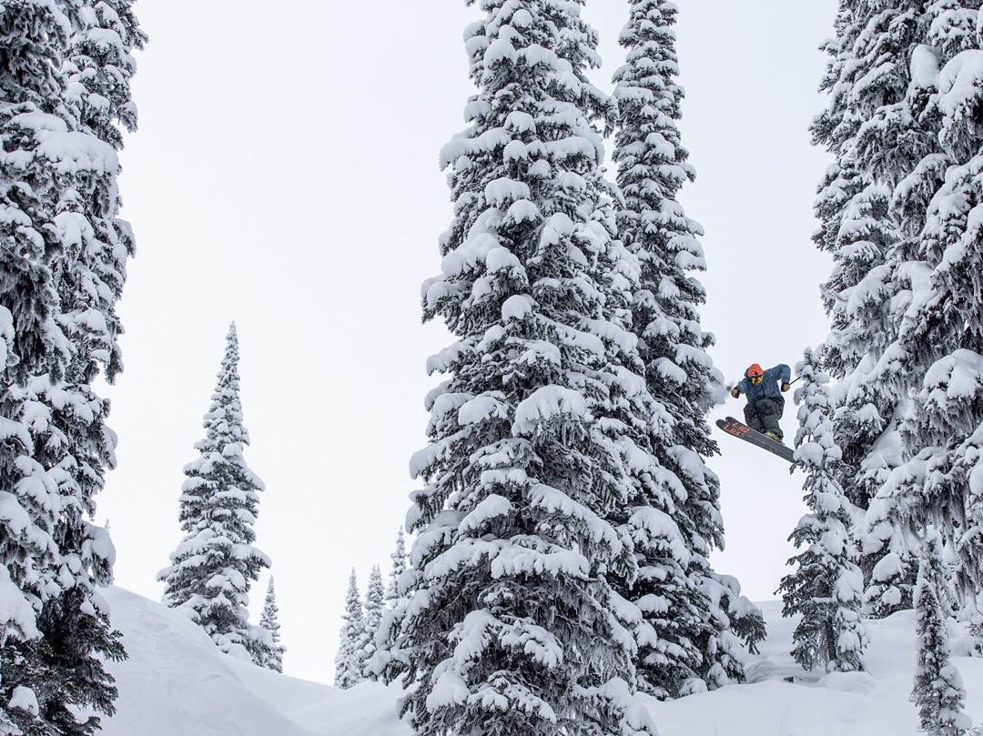 @wachstavision blasting through the trees at Rettalack, B.C.