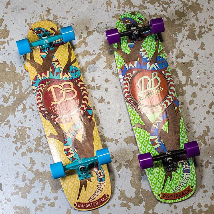 The Diamondback and the Razorback are the perfect multipurpose skateboards available for a great price. Skate everything on one of these shred machines. #dblongboards #skateboard #longboard #longboarding #skateverything