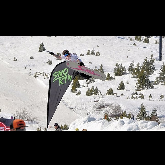 Shaun Palmer has always had one of the best methods in the game, thanks for the shot Kenney Hill !! legends of snowboarding at Soda Springs. #forridersbyriders #handmadelaketahoe
