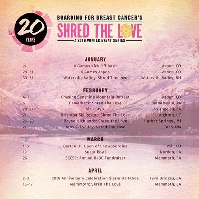Come #ShredTheLove with B4BC this winter!  Shred The Love, our annual campaign that seeks to unite the board sports community around a love of philanthropy and an active lifestyle during the winter season, is coming to a mountain near you! We encourage...