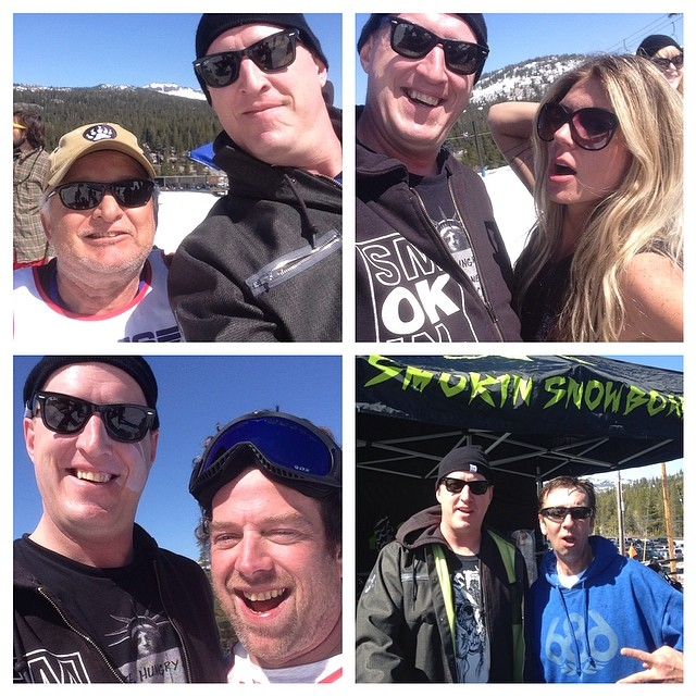 Had a great day at Legends of Snowboarding at Soda Springs , Chuck Barfoot, Terry Kidwell, Shaun Palmer, and the girl on our new Superpark ltd by Corey Smith. This event coming together is so cool to be a part of. It was great to hang with old friends...