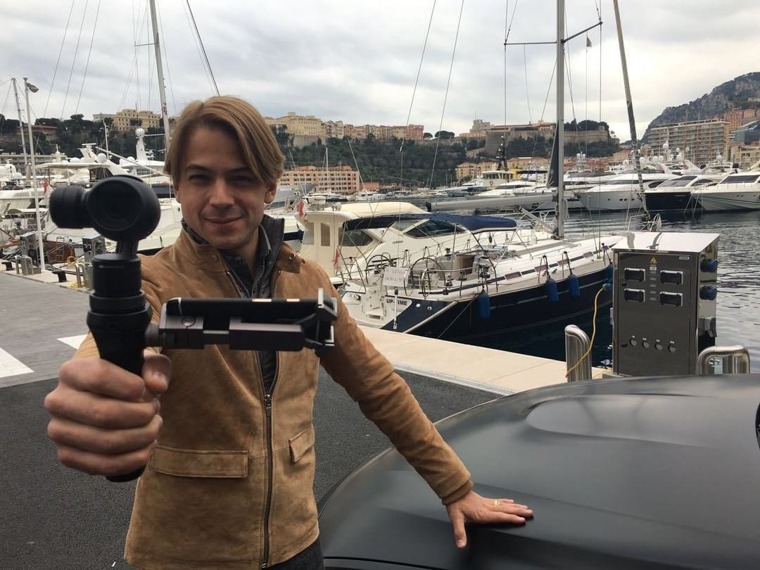 BMW Factory race driver @augusto_farfus gives us a winning smile with the #DJI #OSMO by the harbour in Monte Carlo, #Monaco