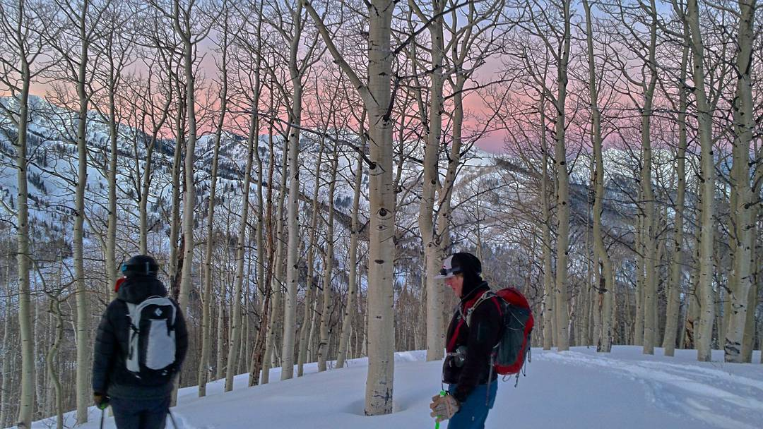 I've been in class for about an hour and I still can't feel my toes from this morning's chilly dawn patrol. The high avalanche danger kept us in the low angle aspen glades and bush bashing was the name of the game | #wasatchbackcountryalliance