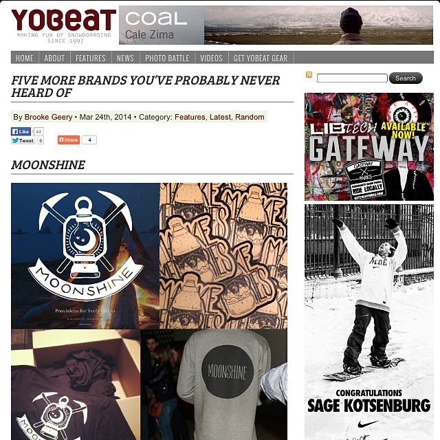 What makes Mondays bearable? Getting an interview with @yobeat! To celebrate, everything's on sale! WOOHOO! // #firewaterfriends #snowboarding #bestmondayever