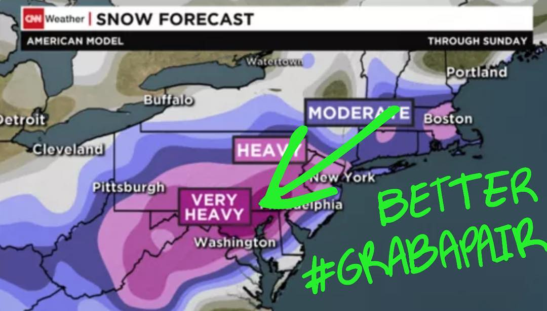 """The best #Jonas #storm provisions include a pair of #NeonBandits. Now thru #Monday get 25% off your order when using promo code """"Jonas"""". Link in bio to shop. #grabapair #washingtondc #nyc #philly #boston #snowday"""