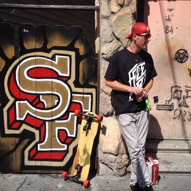 Mike Hoppe out in #SF taking a break after a few runs, footy to follow #Freebord