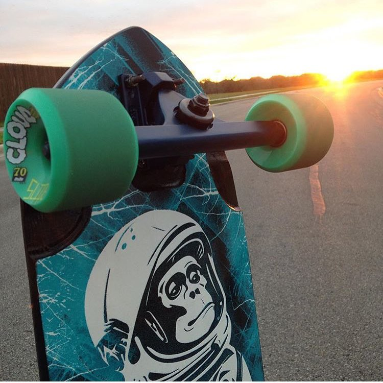 some #midnightsatin #caliber44 trucks looking good at sunset. photo @steezymcghee