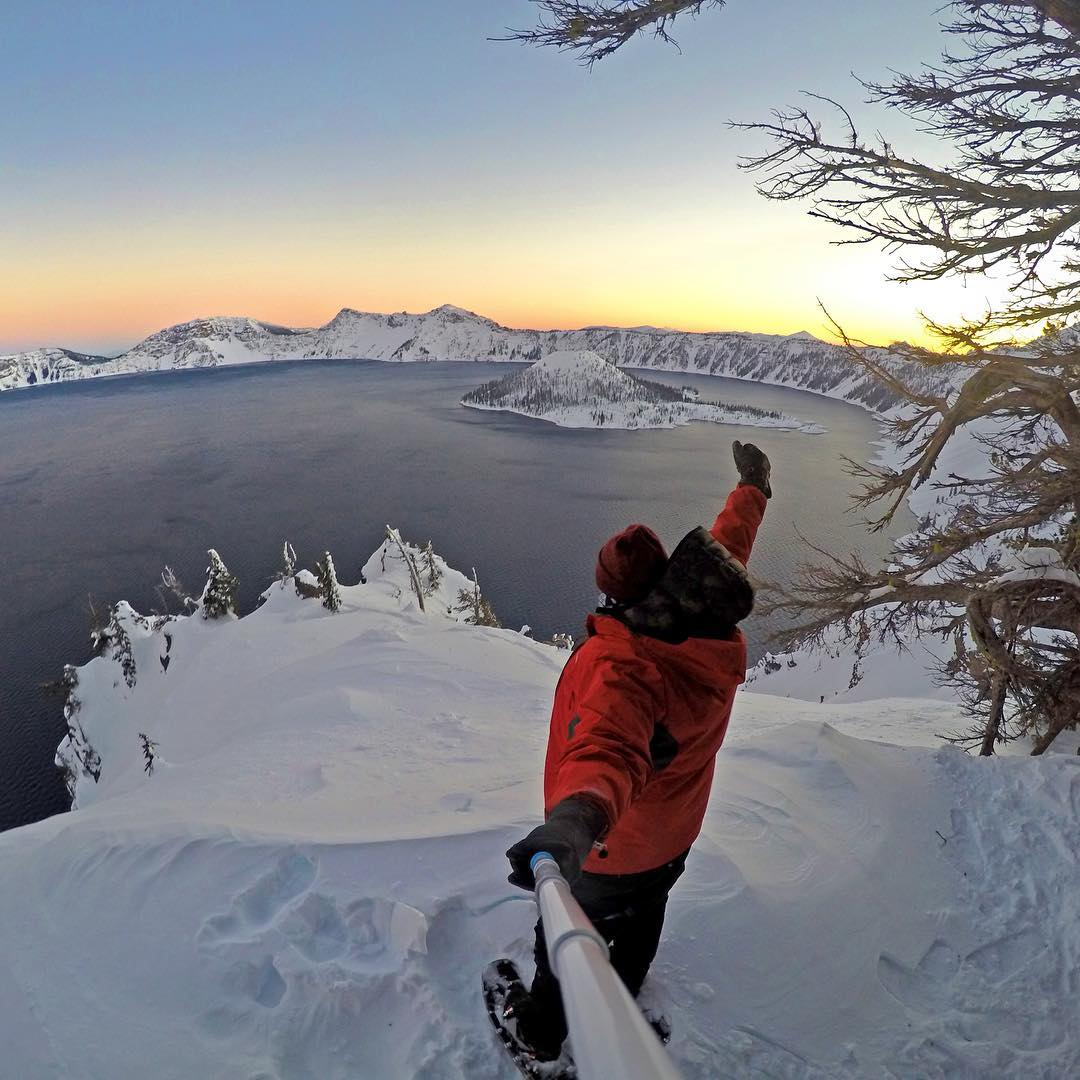 """It was crazy cold."" @mr0tt on a morning hike with the temperatures as cold as -30°F at Crater Lake in Oregon. GoPro HERO4 
